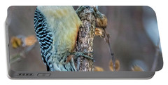 Redbellied Woodpecker Portable Battery Charger by Skip Tribby