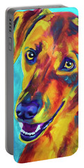 Redbone Coonhound - Yellow Portable Battery Charger