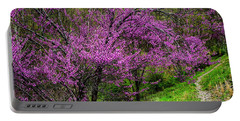 Portable Battery Charger featuring the photograph Redbud And Path by Thomas R Fletcher