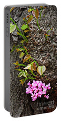 Redbud Flowers 2 Portable Battery Charger by Sarah Loft