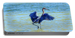 Reddish Egret On The Hunt Portable Battery Charger
