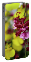 Maroon And Yellow Orchid Portable Battery Charger