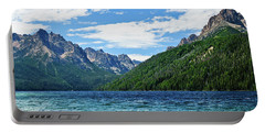 Portable Battery Charger featuring the photograph Redfish Lake by Greg Norrell