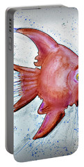 Portable Battery Charger featuring the mixed media Redfish by Walt Foegelle