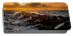 Redondo Beach Sunset Portable Battery Charger by Ed Clark
