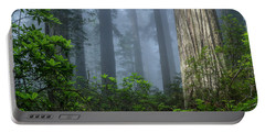 Redwoods In Blue Fog Portable Battery Charger