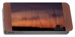 Reeds At Sunset Portable Battery Charger