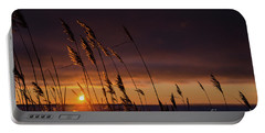 Reeds By Sunset Portable Battery Charger