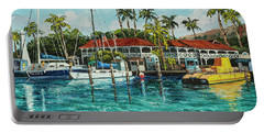 Portable Battery Charger featuring the painting Reef Dancer  by Darice Machel McGuire