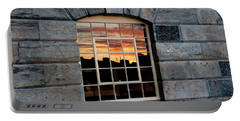 Reflected Sunset Sky Portable Battery Charger by Helen Northcott