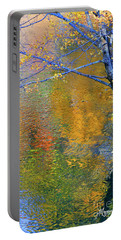 Reflecting Autumn Portable Battery Charger by Mariarosa Rockefeller