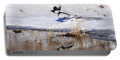Reflecting Magpie Portable Battery Charger