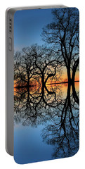 Portable Battery Charger featuring the photograph Reflecting On Tonight by Chris Berry