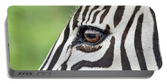 Reflection In A Zebra Eye Portable Battery Charger