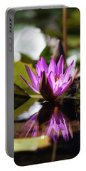 Portable Battery Charger featuring the photograph Reflection In Fuchsia by Suzanne Gaff