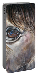 Reflection Of A Painted Pony Portable Battery Charger