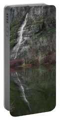 Reflection Of A Waterfall Portable Battery Charger