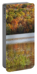 Reflection Of Autumn Colors In A Lake Portable Battery Charger