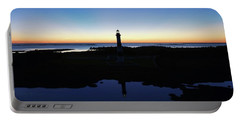 Reflection Of Bodie Light At Sunset Portable Battery Charger