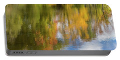 Reflection Of Fall #1, Abstract Portable Battery Charger