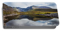 Reflection Of The Macgillycuddy's Reeks In Lough Eagher Portable Battery Charger by Semmick Photo