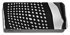 Portable Battery Charger featuring the photograph Reflection On 42nd Street 1 Grayscale by Sarah Loft