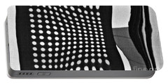 Portable Battery Charger featuring the photograph Reflection On 42nd Street 2 Grayscale by Sarah Loft