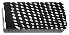 Portable Battery Charger featuring the photograph Reflection On 42nd Street 3 Grayscale by Sarah Loft