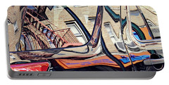 Portable Battery Charger featuring the photograph Reflection On A Parked Car 18 by Sarah Loft