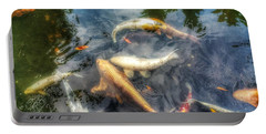 Reflections And Fish 2 Portable Battery Charger by Isabella F Abbie Shores FRSA
