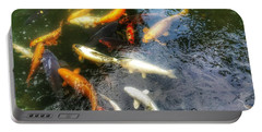 Reflections And Fish 5 Portable Battery Charger by Isabella F Abbie Shores FRSA