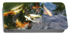 Reflections And Fish 6 Portable Battery Charger by Isabella F Abbie Shores FRSA