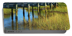 Reflections And Sea Grass Portable Battery Charger