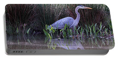 Reflections At Nassau Grove Portable Battery Charger by Allan Levin