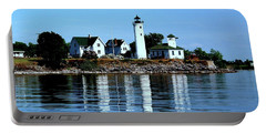 Reflections At Tibbetts Point Lighthouse Portable Battery Charger