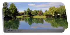 Reflections In A Pond Portable Battery Charger by Angela Murdock