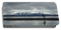 Reflections In Lake Yellowstone Portable Battery Charger