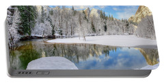 Reflections In The Merced River Yosemite National Park Portable Battery Charger