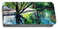 Trees Reflections Portable Battery Charger