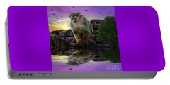 Reflections Of A Squirrel Monkey Portable Battery Charger