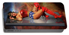 Reflections Of A Wonder Woman Portable Battery Charger