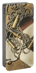 Portable Battery Charger featuring the photograph Reflections Of Battle by Jorgo Photography - Wall Art Gallery