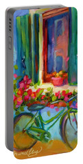 Portable Battery Charger featuring the painting Reflections Of Burano by Chris Brandley