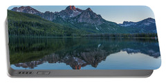 Reflections Of Elk Mountain Portable Battery Charger by Brenda Jacobs