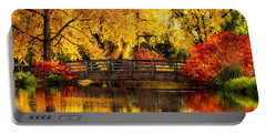 Reflections Of Fall Portable Battery Charger by Kristal Kraft