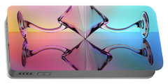 Reflections Of Martini Glasses Portable Battery Charger