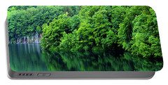 Reflections Of Plitvice, Plitvice Lakes National Park, Croatia Portable Battery Charger