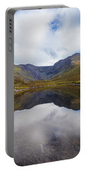 Reflections Of The Macgillycuddy's Reeks In Lough Eagher Portable Battery Charger by Semmick Photo