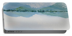 Reflections Of The Skies And Mountains Surrounding Bathurst Harbour Portable Battery Charger