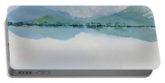 Portable Battery Charger featuring the painting Reflections Of The Skies And Mountains Surrounding Bathurst Harbour by Dorothy Darden